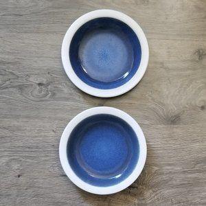 Vintage Heath Ceramics Saucers Moonstone & White